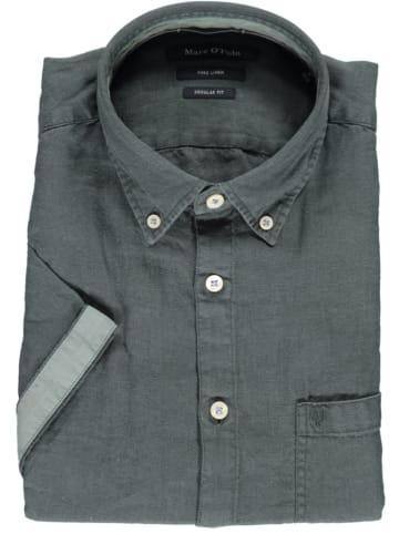 Marc O'Polo DENIM Linnen blouse - regular fit - grijs