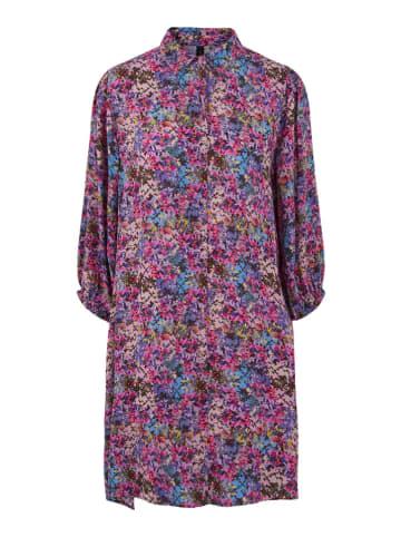 """Y.A.S Sukienka """"Electra"""" w kolorze fioletowym ze wzorem"""