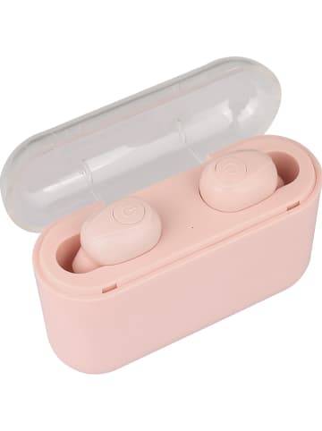 WHIPEARL Słuchawki bezprzewodowe Bluetooth w kolorze jasnoróżowym