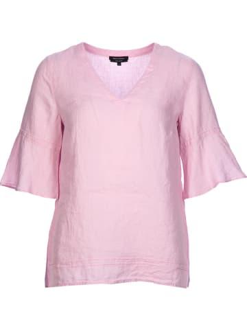 Marc O'Polo Lniana bluzka w kolorze jasnoróżowym