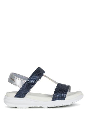 "Geox Sandalen ""Sukie"" donkerblauw/zilverkleurig"