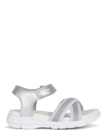 """Geox Sandały """"Sukie"""" w kolorze srebrnym"""