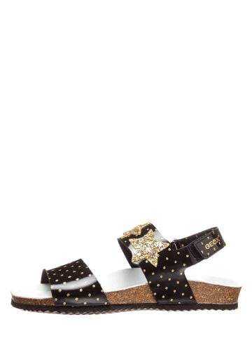 """Geox Sandały """"Adriel"""" w kolorze czarno-złotym"""