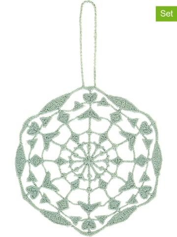 Juna Dekoracyjne zawieszki (6 szt.) w kolorze zielonym - 8,5 x 6 cm