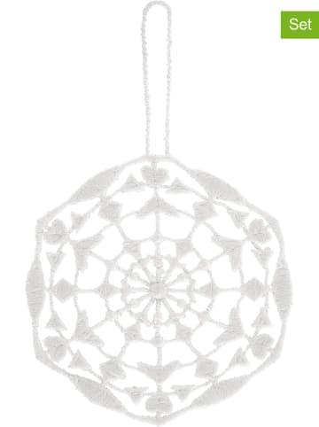 "Juna 6er-Set: Dekohänger ""Gækkebrev"" in Weiß - (L)8,5 x (B)6 cm"