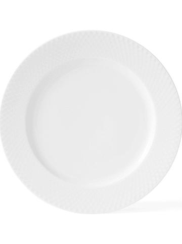 """LYNGBY Talerz obiadowy """"Rhombe"""" w kolorze białym - Ø 27 cm"""