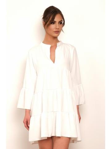 """Saint Germain Paris Sukienka """"Betty"""" w kolorze białym"""
