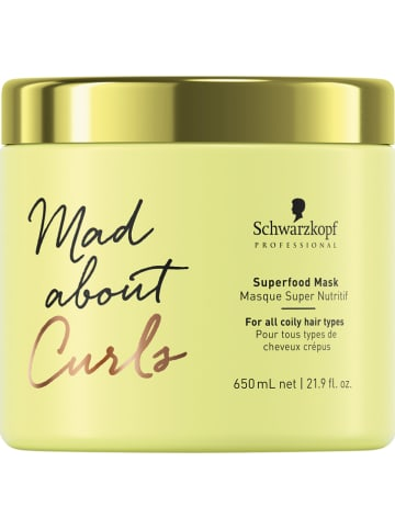 "Schwarzkopf Professional Haarmasker ""Mad About Curls Superfood Treatment"", 650 ml"