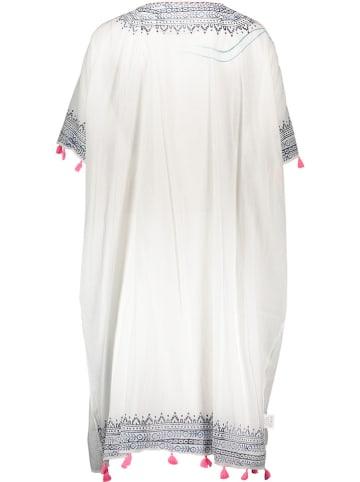Sunny Times Kimono in Weiß/ Blau