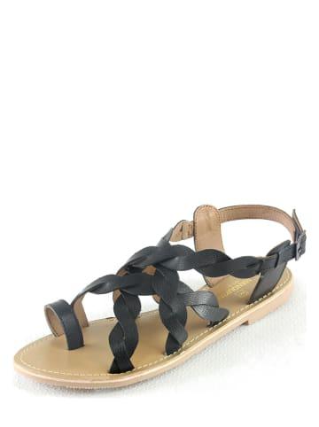 """Manoukian shoes Leren sandalen """"Ilsa"""" zwart"""