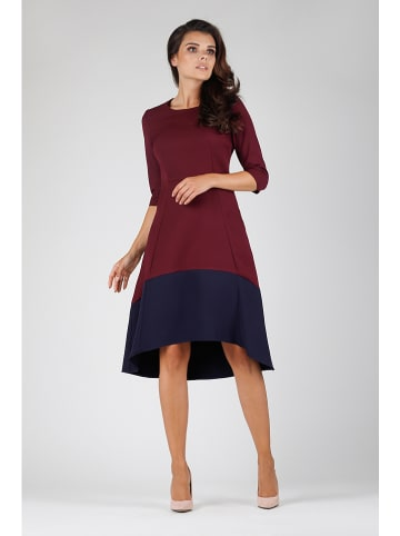 Naoko Kleid in Bordeaux/ Dunkelblau