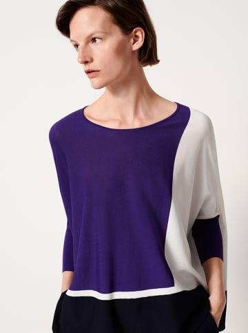 """OPUS Koszulka """"Tjelva"""" w kolorze czarno-biało-niebieskim"""