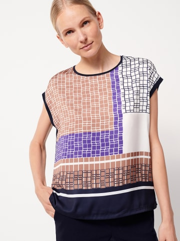 """Someday Shirt """"Kori"""" paars/bruin/wit"""