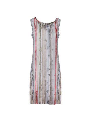 European Culture Sukienka w kolorze szarym ze wzorem