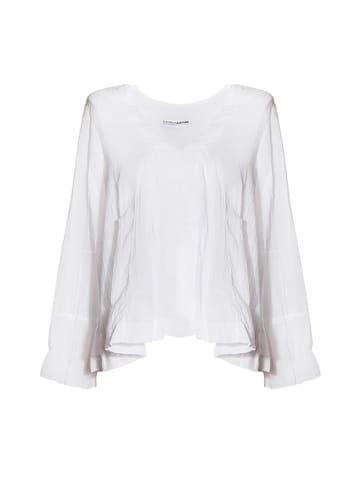 European Culture Bluzka w kolorze białym