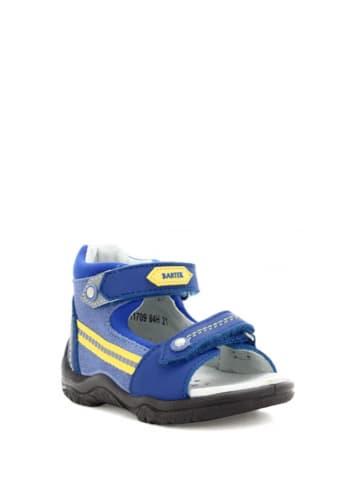 Bartek Leren sandalen blauw/geel