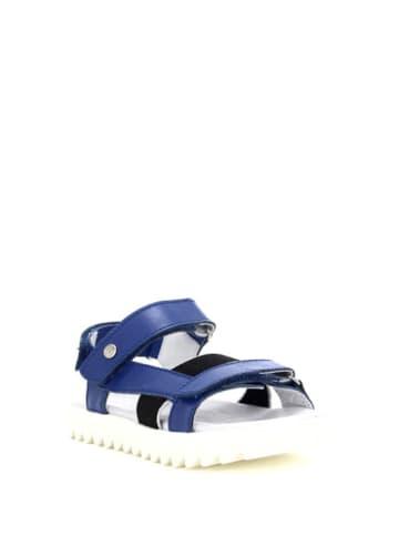 Bartek Skórzane sandały w kolorze niebieskim