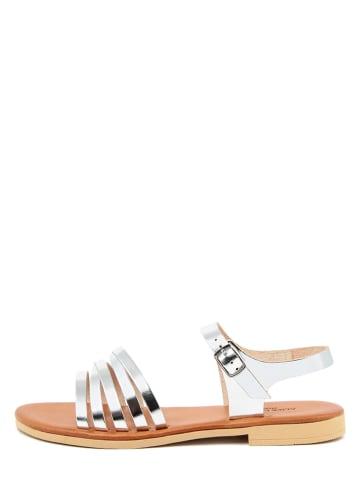 ALICE CARLOTTI Leder-Sandalen in Silber