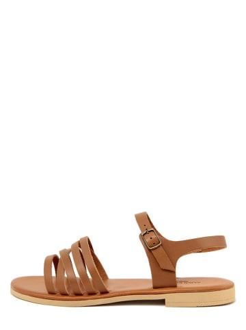 ALICE CARLOTTI Leder-Sandalen in Braun