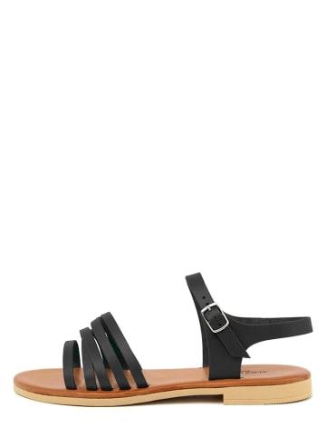 ALICE CARLOTTI Leder-Sandalen in Schwarz