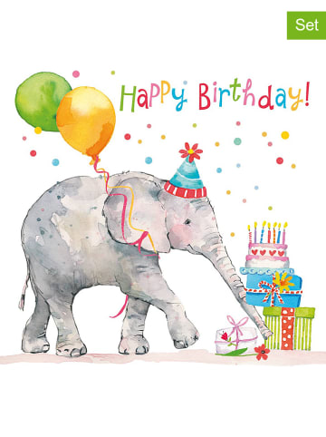 "Ppd 2-delige set: servetten ""Birthday Elephant"" meerkleurig - 2x 20 stuks"
