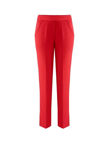 MARLU Spodnie w kolorze czerwonym