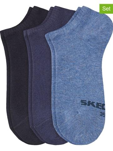 Skechers Skarpety (6 par) w kolorze niebieskim i granatowym