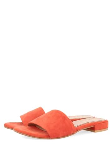 """Gioseppo Leder-Pantoletten """"Treguier"""" in Orange"""