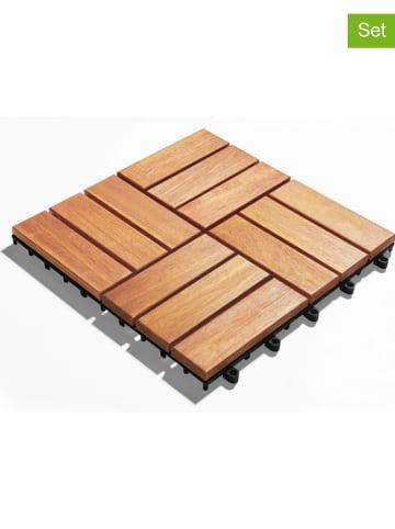 Gartenfreude Płytki podłogowe (10 szt.) w kolorze brązowym - 30 x 30 cm