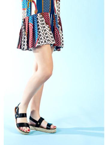 """Bluebay Leren sandalen """"Tokoroa"""" zwart"""