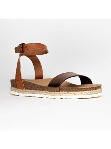 "Bluebay Leren sandalen ""Wellington"" lichtbruin"