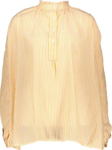 Benetton Blouse geel/wit