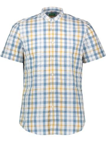 Benetton Koszula w kolorze biało-niebiesko-żółtym