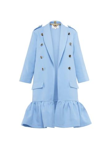 Yuliya Babich Płaszcz w kolorze błękitnym