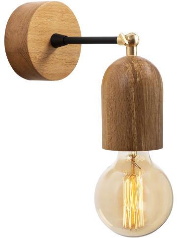 """ABERTO DESIGN Lampa ścienna """"Datca"""" w kolorze brązowym - 10 x 14 cm"""