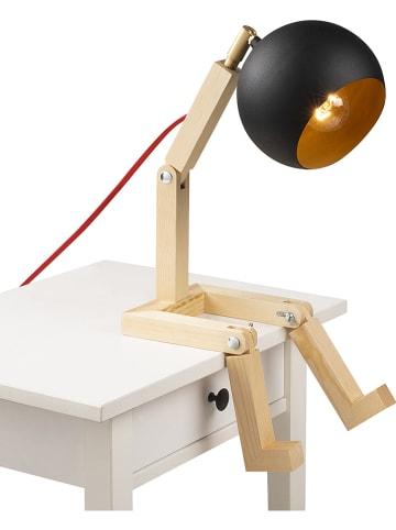 """Mioli Lampa stołowa """"Milet"""" w kolorze czarno-brązowym - wys. 56 cm"""