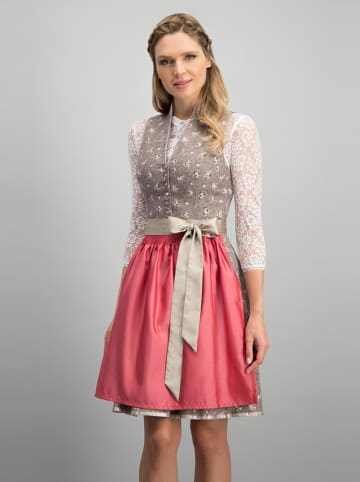 """Stockerpoint Dirndl """"Imera"""" in Taupe/ Rot"""