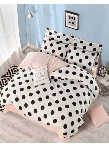"""Colourful Cotton Beddengoedset """"Mixpuan"""" wit/zwart/lichtroze"""