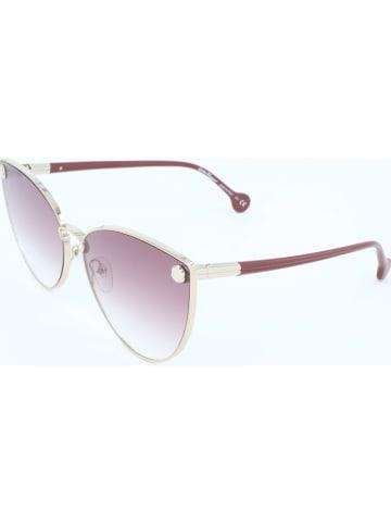 Salvatore Ferragamo Damen-Sonnenbrille in Gold/ Braun