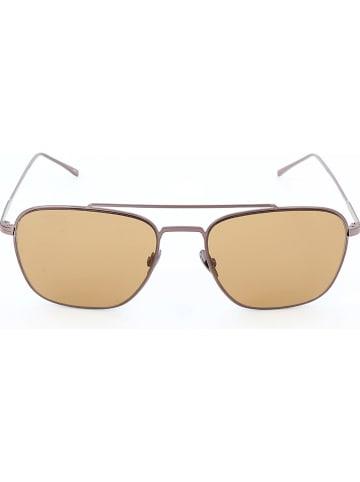 Lacoste Okulary przeciwsłoneczne unisex w kolorze brązowym