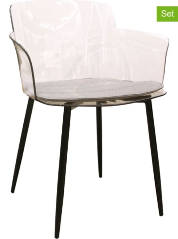 Rétro Chic 2er-Set: Sessel in Transparent - (B)53,2 x (H)81 x (T)59,2 cm