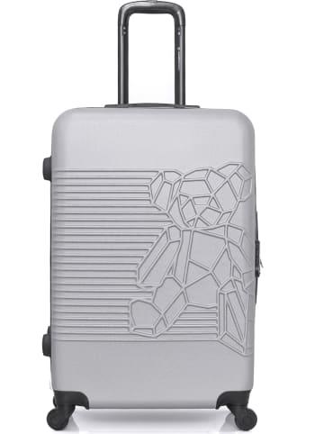 """Lulu Castagnette Hardcase-trolley """"Bear Cube-A"""" lichtgrijs - (B)44 x (H)70 x (D)29 cm"""