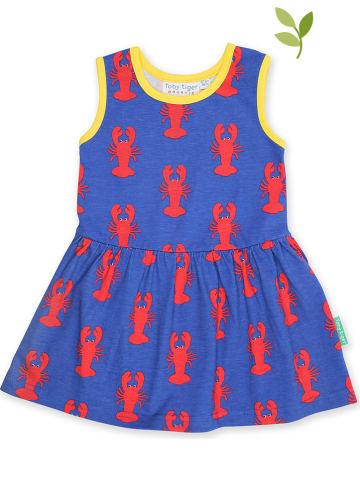 Toby Tiger Kleid in Blau/ Rot