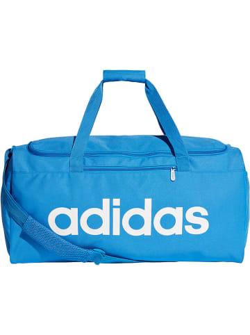 """Adidas Torba sportowa """"Linear Duffle M"""" w kolorze niebieskim - 41 l - 56 x 28 x 22 cm"""