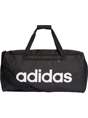 "Adidas Sporttasche ""Linear Duffle M"" in Schwarz - 41 l - (B)56 x (H)28 x (T)22 cm"