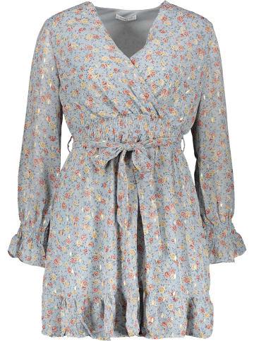 My Summer Closet Sukienka w kolorze błękitnym ze wzorem