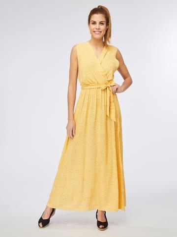 Ella Paris Sukienka w kolorze żółto-białym