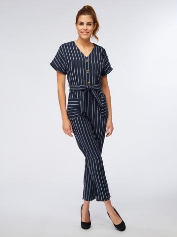My Summer Closet Jumpsuit donkerblauw/wit