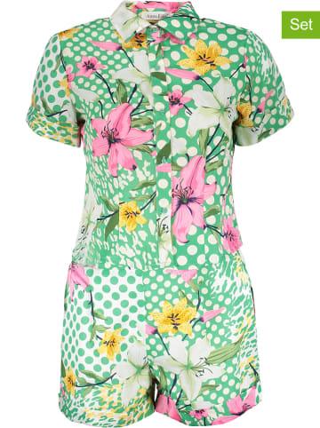 Ella Paris 2-delige outfit groen/meerkleurig