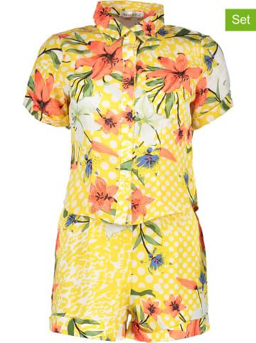 Ella Paris 2-delige outfit geel/meerkleurig